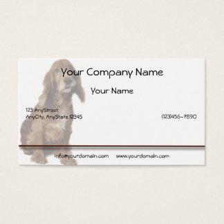 Brown Smiling, Smirking Dog Business Card