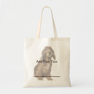 Brown Smiling, Smirking Dog Tote Bag