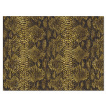 Brown Snake Skin Gorgeous Leather Texture Tissue Paper