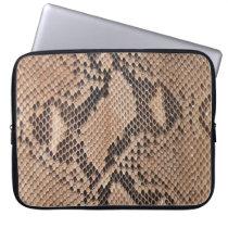 Brown Snakeskin Look Laptop Sleeve