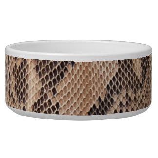 Brown Snakeskin Look Pet Bowl