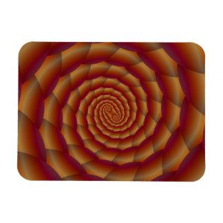 Brown Snakeskin Spiral Rectangular Magnets