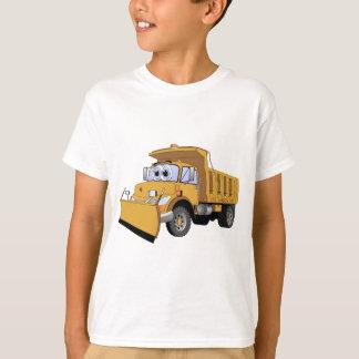 Brown Snow Plow Cartoon T-Shirt