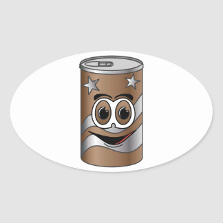 Brown Soda Can Cartoon Sticker