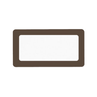 Brown solid color border blank label