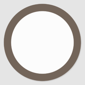 Brown solid color border blank stickers
