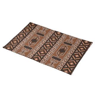 Brown Southwest Aztec Pattern Cloth Placemat