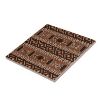 Brown Southwest Aztec Pattern Tile
