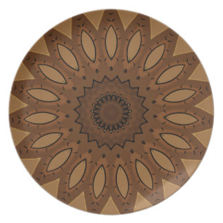 Brown Southwestern Design Dinner Plate
