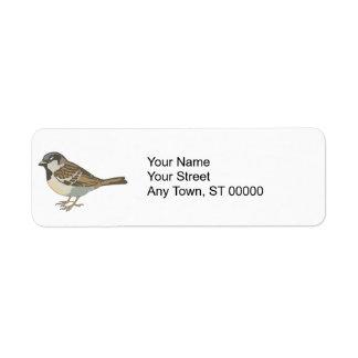 brown sparrow label
