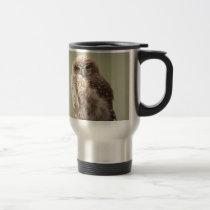 Brown Speckled Owl Travel Mug