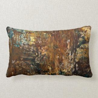 Brown Splattered Colors-Lumbar Pillow