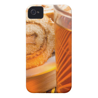 Brown sponge cake and cup of hot tea Case-Mate iPhone 4 case