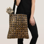 brown spot, clear and dark dispersed small balls tote bag