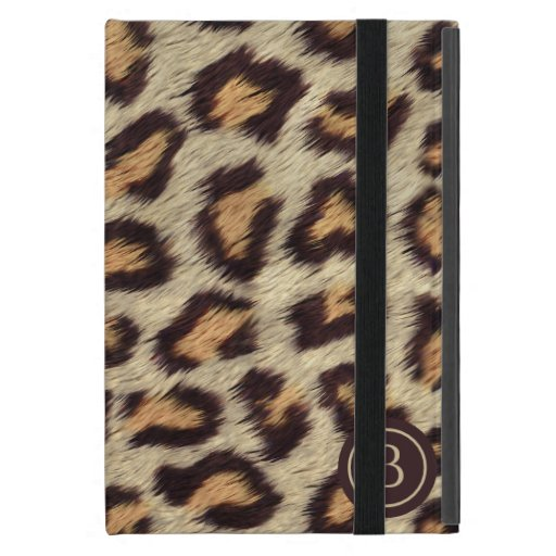 Brown spots leopard pattern faux fur texture case for iPad mini