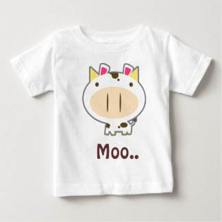 Brown Spotted Cute Cow Baby T-Shirt