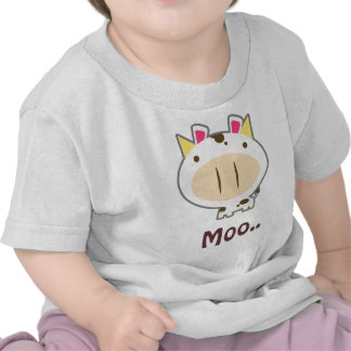 Brown Spotted Cute Cow T-shirt