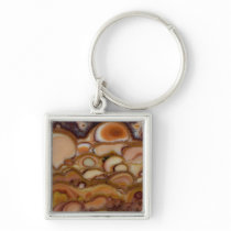Brown Spotted Onyx Keychain