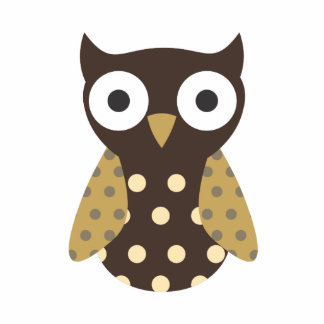 Brown Spotted Owl Cutout