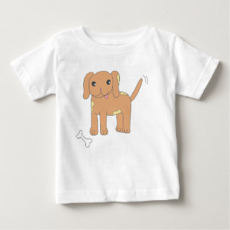 Brown Spotted Puppy Dog Baby T-Shirt