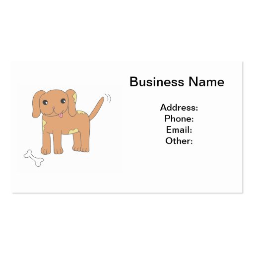 Brown Spotted Puppy Dog Double-Sided Standard Business Cards (Pack Of 100)