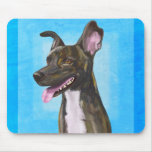 Brown Spotted Shepherd with Big Ears Mousepad
