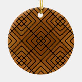 Brown Square Affair Ceramic Ornament