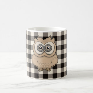 Brown Square Check Coffee Mug