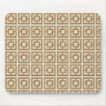 Brown Square Pattern Mouse Pad