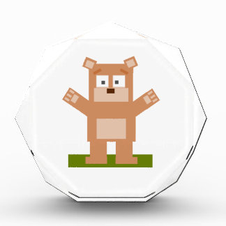 Brown Square Shaped Cartoon Bear Standing Up Awards