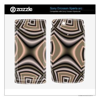 Brown Squaro Xperia Arc Skins