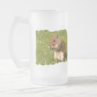 Brown Squirrel  Frosted Beer Mug