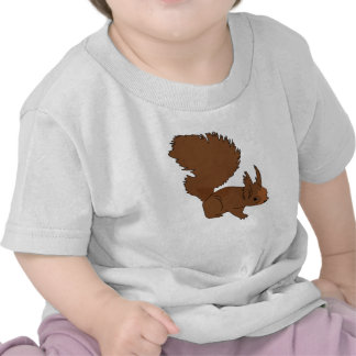 Brown Squirrel Tee Shirts