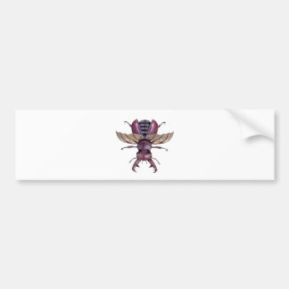 Brown Stag Beetle Bumper Sticker
