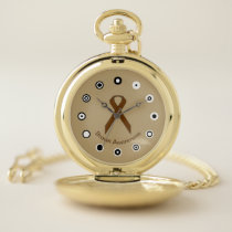 Brown Standard Ribbon (Bf) by K Yoncich Pocket Watch