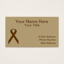 Brown Standard Ribbon Business Card