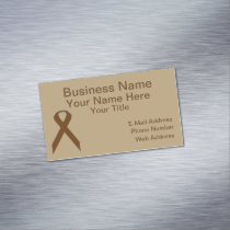 Brown Standard Ribbon Business Card Magnet