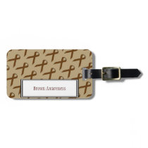Brown Standard Ribbon by Kenneth Yoncich Bag Tag