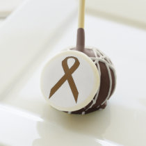 Brown Standard Ribbon by Kenneth Yoncich Cake Pops