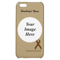 Brown Standard Ribbon by Kenneth Yoncich Case For iPhone 5C
