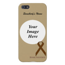 Brown Standard Ribbon by Kenneth Yoncich Case For iPhone SE/5/5s
