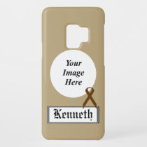 Brown Standard Ribbon by Kenneth Yoncich Case-Mate Samsung Galaxy S9 Case