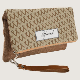 Brown Standard Ribbon by Kenneth Yoncich Clutch