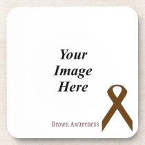 Brown Standard Ribbon by Kenneth Yoncich Coaster