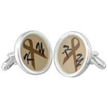 Brown Standard Ribbon by Kenneth Yoncich Cufflinks
