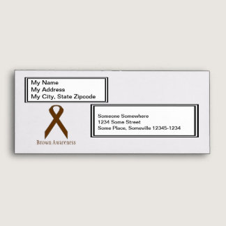 Brown Standard Ribbon by Kenneth Yoncich Envelope