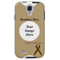 Brown Standard Ribbon by Kenneth Yoncich Galaxy S4 Case