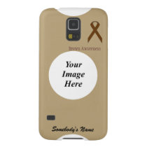 Brown Standard Ribbon by Kenneth Yoncich Galaxy S5 Cover