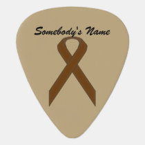 Brown Standard Ribbon by Kenneth Yoncich Guitar Pick
