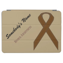 Brown Standard Ribbon by Kenneth Yoncich iPad Air Cover